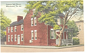 Winchester, VA,Cannon Ball House Postcard (Image1)