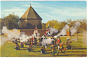 Williamsburg, VA, Colonial Militia Postcard 1966 (Image1)