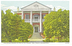 Natchez,MS, Rosalie Mansion Postcard 1945 (Image1)