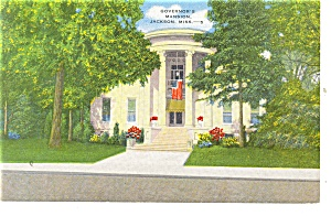 Jackson,MS, Governor's Mansion Postcard (Image1)