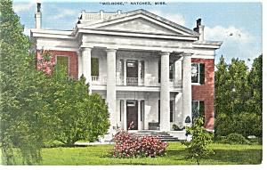 Natchez MS Melrose Mansion Postcard p10732 1946 (Image1)