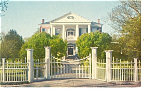 Natchez MS Rosalie Mansion Gate Postcard p10735 (Image1)