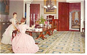 Natchez MS Stanton Hall Dining Room Postcard p10737 (Image1)