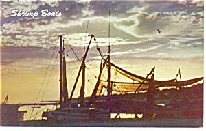 Shrimp Boats Mississippi Gulf Coast Postcard p10748 (Image1)