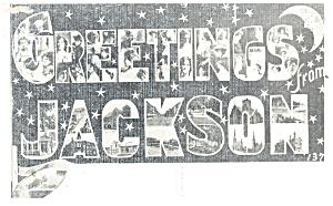 Jackson,MS, Big Letter Postcard (Image1)