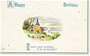 A Happy Birthday Vintage Postcard p10764 (Image1)