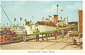 Tampa FL Banana Docks Postcard p10783 1965 (Image1)