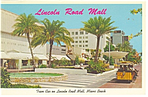 Miami Beach FL Tram Car on Lincoln Road Mall  Postcard p10797 (Image1)