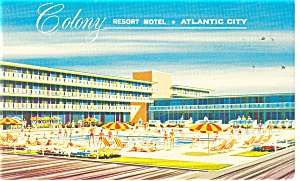 Atlantic City  NJ Colony Resort Motel  Postcard p10800 (Image1)