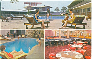 Philadelphia Pa Geo Washington Motel Postcard P10813