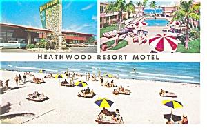 Miami Beach FL Heathwood Resort Motel Pcard  p10822 Cars 50s (Image1)