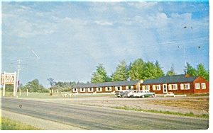 Canaan Me Oak Pond Motel Postcard P10823 Cars 50s