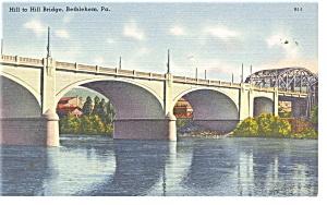 Bethlehem PA Hill to Hill Bridge Postcard p10825 (Image1)