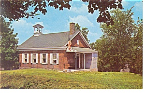 York,PA, Little Red Schoolhouse Museum Ext. Postcard (Image1)
