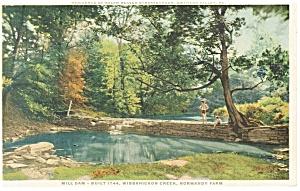Gwynedd Valley PA Mill Dam Built 1744 Phostint Postcard p10835 (Image1)