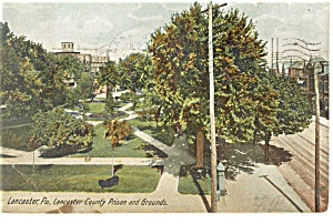 Lancaster, PA, County Prison and Grounds Postcard 1907 (Image1)