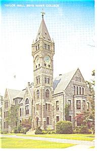 Bryn Mawr College, PA, Taylor Hall Postcard 1965 (Image1)