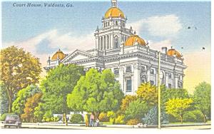 Valdosta GA Court House  Postcard p10848 (Image1)