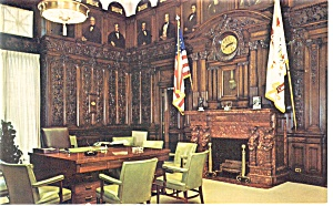 Harrisburg PA Governor s Office Interior Postcard p10860 (Image1)