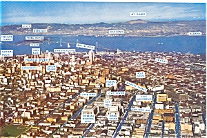 San Francisco CA Aerial View Postcard (Image1)