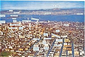 San Francisco CA Aerial View Large Postcard p1089 (Image1)