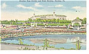 Hershey PA Hershey Hotel and Rose Garden Postcard p10904 (Image1)