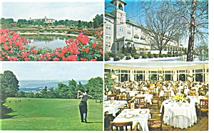 Hershey PA Hotel Hershey Four Views Postcard p10912 (Image1)