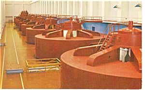 Grand Coulee Dam, WA Powerhouse Postcard (Image1)