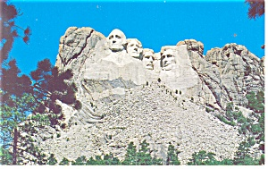 Mt Rushmore South Dakota Postcard p10948 1964 (Image1)