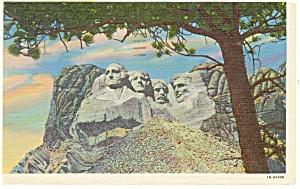 Mt Rushmore South Dakota Postcard p10949 1961 (Image1)