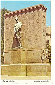 Lincoln, NE, Lincoln Statue Postcard 1962 (Image1)