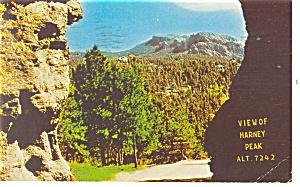 Black Hills SD Harney Peak Postcard p10956 1965 (Image1)