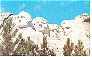 Mt Rushmore, South Dakota Postcard (Image1)