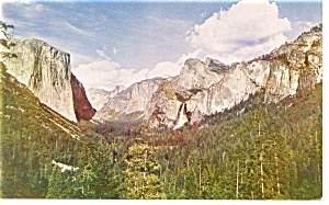 Yosemite Valley, CA From Wawona Tunnel Postcard (Image1)