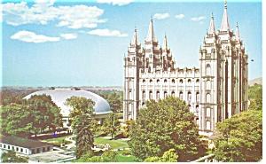 Salt Lake City UT Mormon Temple Postcard p10972 (Image1)