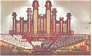 Salt Lake City UT  Mormon Temple Interior Postcard p10973 (Image1)