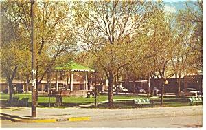 Albuquerque NM Old Town Plaza Postcard p10977 1960 (Image1)