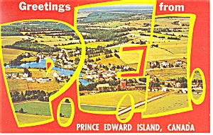 Greetings From Prince Edward Island Canada Postcard p10980 1969 (Image1)