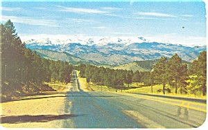 Continental Divide Snowy Peaks CO Postcard p10987 1958 (Image1)