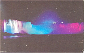 Horseshoe Falls Niagara Falls at night Postcard p10993 (Image1)