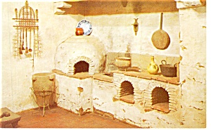 Mission San Carlos Borromeo Kitchen Ca Postcard P11007