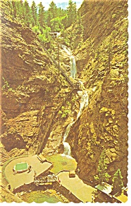 Seven Falls,South Cheyenne Canon, CO Postcard (Image1)