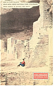 Cliff Palace, Mesa Verde Natl Park, CO Postcard (Image1)