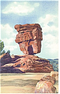 Balanced Rock Garden Of The Gods Co Postcard P11019