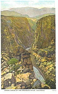 Grand Canyon Of The Arkansas River Co Postcard P11021