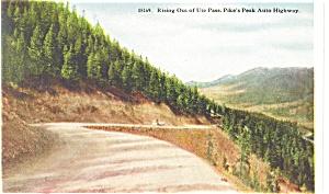 Pikes Peak Highway CO Ute Pass Postcard p11026 (Image1)