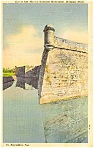 Castle San Marcos FL Postcard p1102 (Image1)