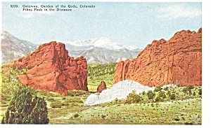 Gateway To Garden Of The Gods Co Postcard P11035