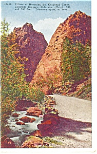 Cheyenne Canon CO Pillars of Hercules Postcard p11039 (Image1)