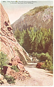 Cheyenne Canon, CO, The Palisades Postcard 1913 (Image1)